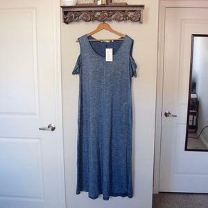 NWT {Soft Surroundings} blue maxi dress